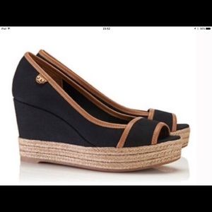 Tory Burch Majorca Wedge Shoes Size 11